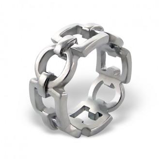 """Prsten z chirurgické oceli """"Řetězový """""""